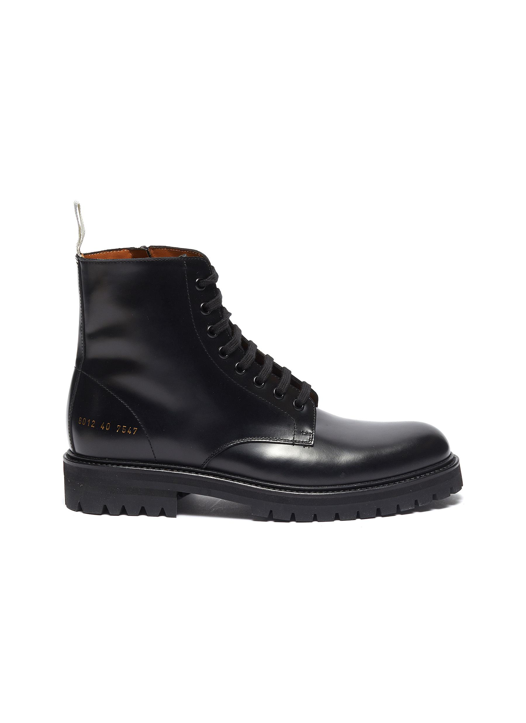 Standard leather combat boots by Common Projects