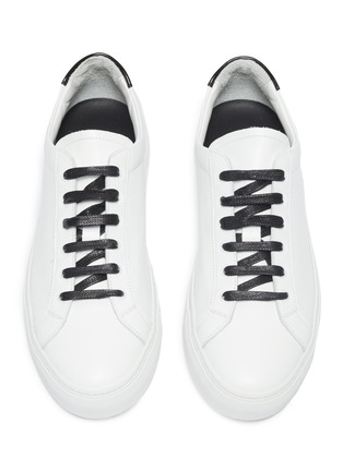 Detail View - Click To Enlarge - COMMON PROJECTS - 'Retro Low' leather sneakers