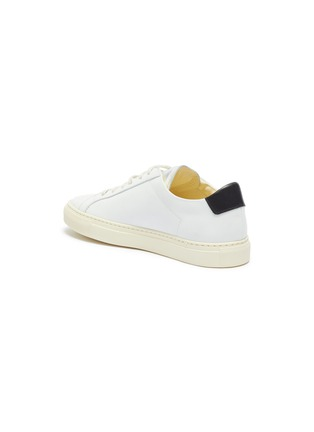 - COMMON PROJECTS - 'Retro Low' leather metallic sneakers
