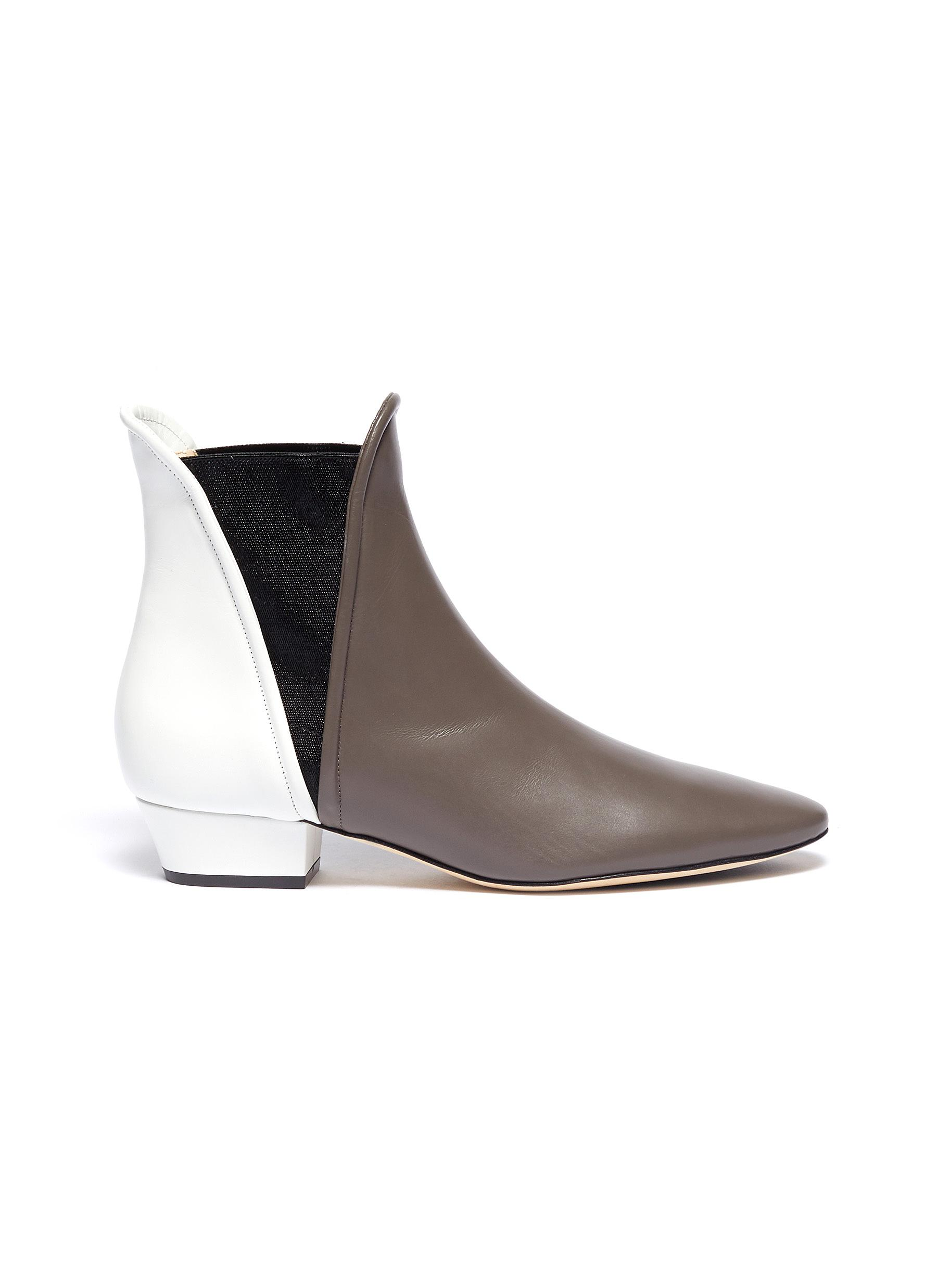 Bootie 45 colourblock leather ankle boots by Rodo