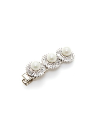 Detail View - Click To Enlarge - VENNA - Glass crystal faux pearl floral hair clip
