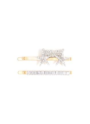 Main View - Click To Enlarge - VENNA - Glass crystal hair clip set