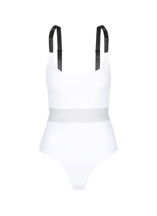 Main View - Click To Enlarge - Beth Richards - 'Agnes' mesh waist one-piece swimsuit