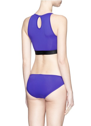 Back View - Click To Enlarge - Beth Richards - 'Fel' logo cropped swim top
