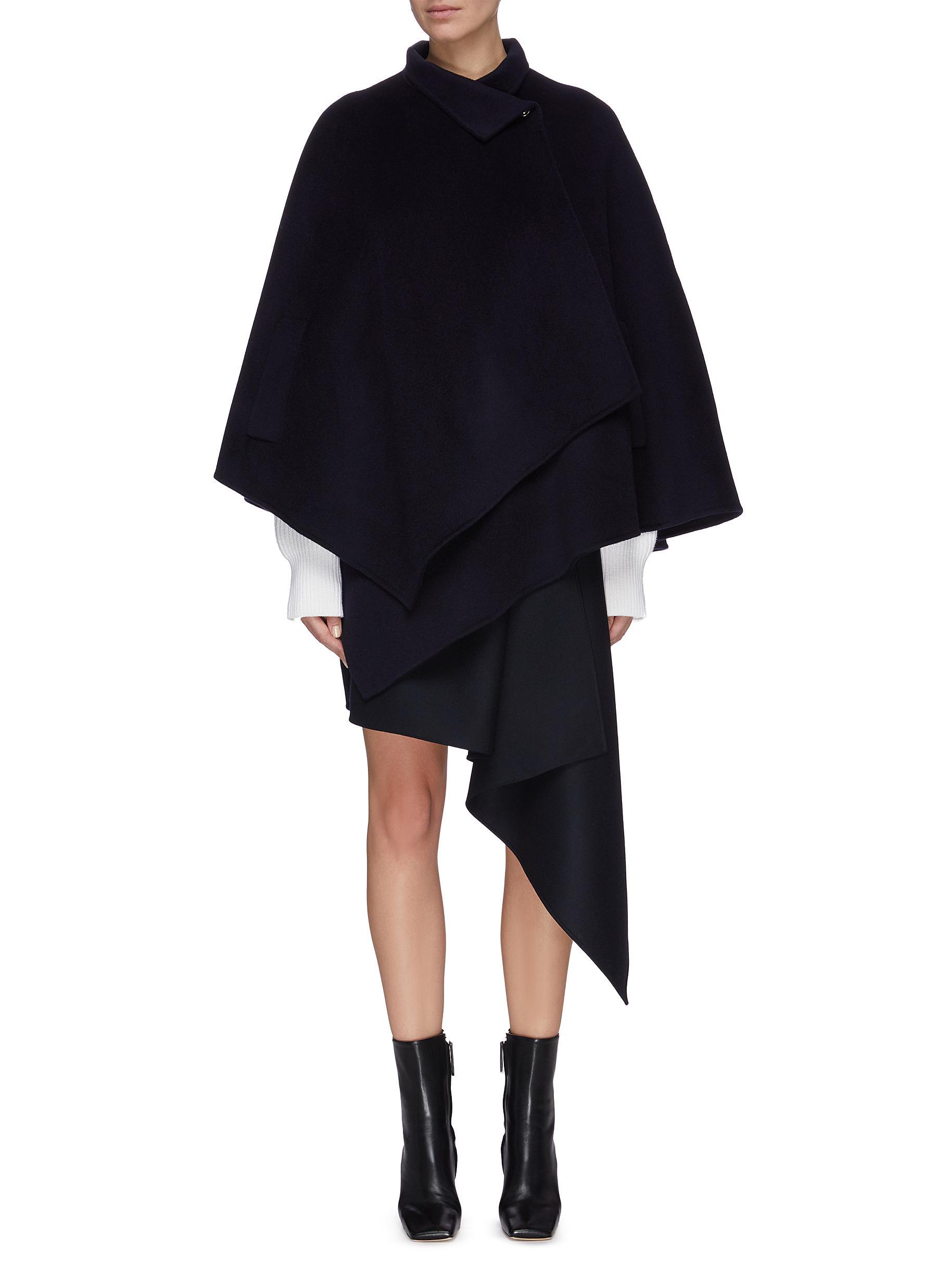 shop Equil Asymmetric drape cashmere cape online