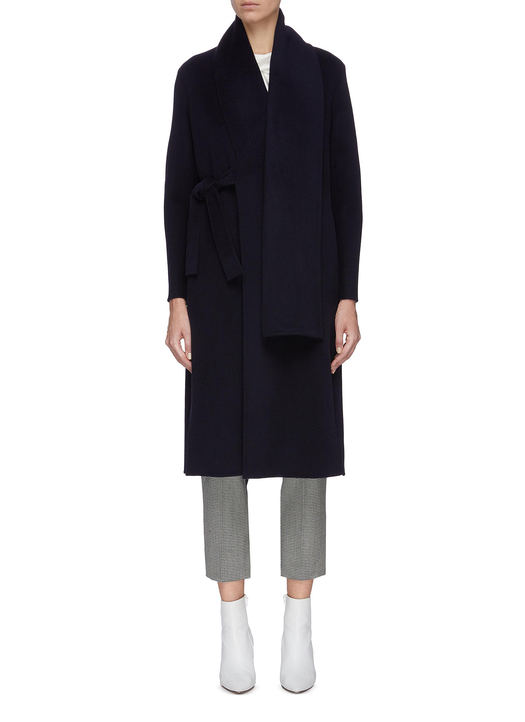 shop Equil Scarf detail wrap around cashmere cape online