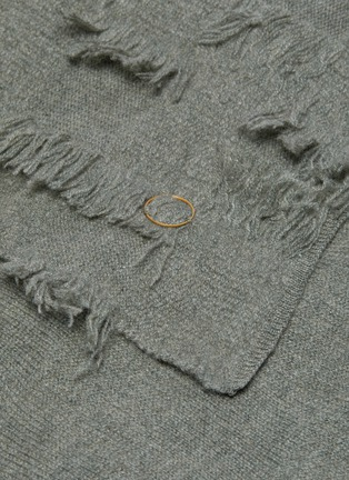 Detail View - Click To Enlarge - OYUNA - Seren cashmere bed throw – Moss