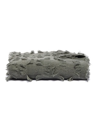 Main View - Click To Enlarge - OYUNA - Seren cashmere bed throw – Moss