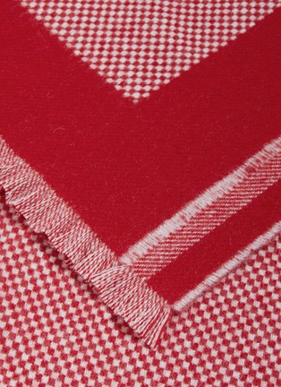 Detail View - Click To Enlarge - CONNOLLY - 'Postbag' logo intarsia lambswool-cashmere scarf