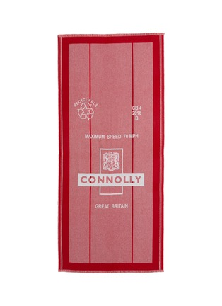 Main View - Click To Enlarge - CONNOLLY - 'Postbag' logo intarsia lambswool-cashmere scarf