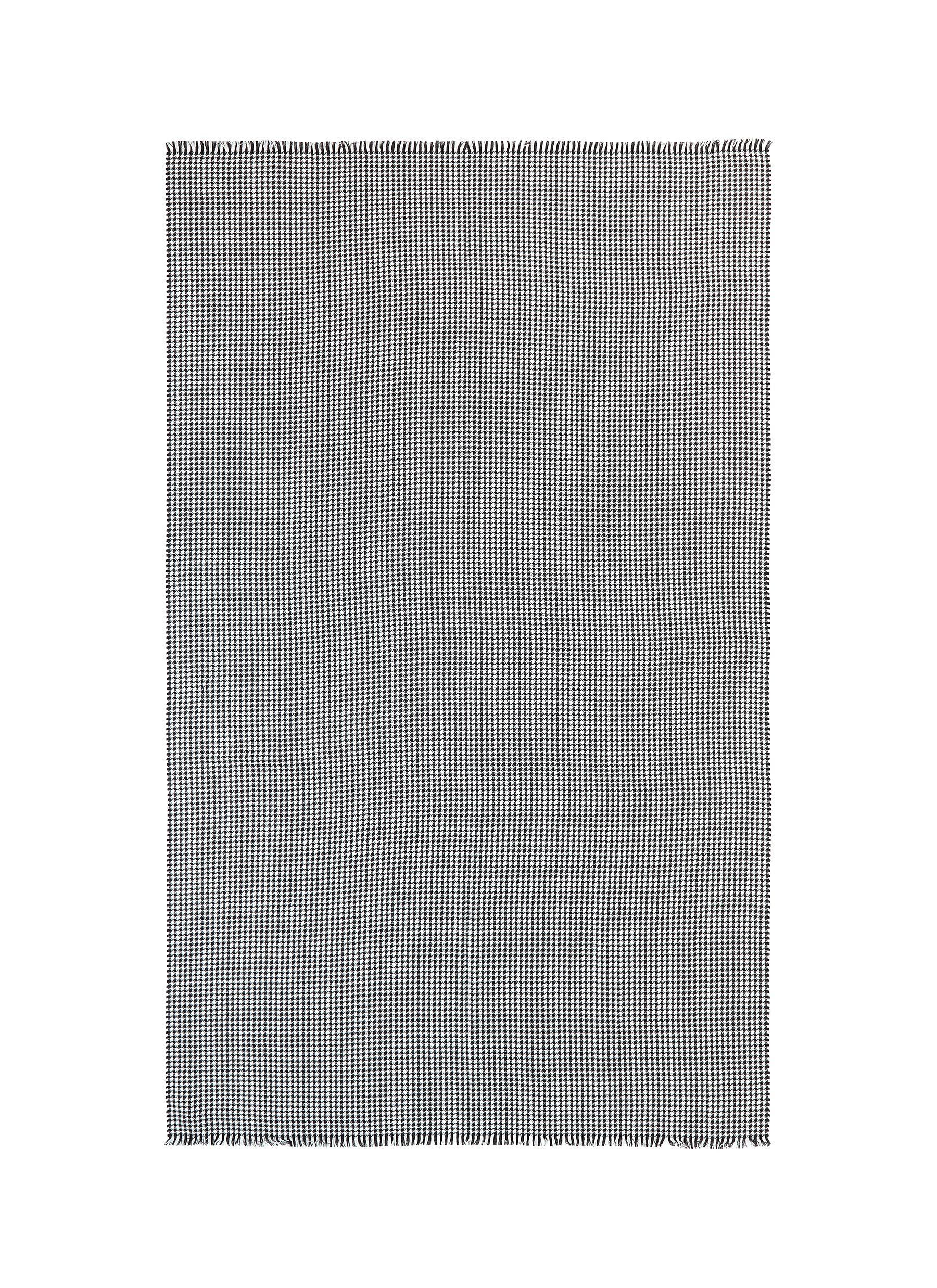 Cashmere-silk houndstooth blanket
