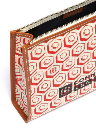 Detail View - Click To Enlarge - CONNOLLY - Geometric graphic print canvas clutch