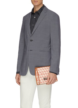 Figure View - Click To Enlarge - CONNOLLY - Geometric graphic print canvas clutch