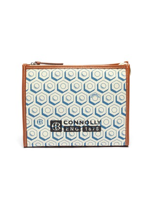 Main View - Click To Enlarge - CONNOLLY - Geometric graphic print canvas clutch