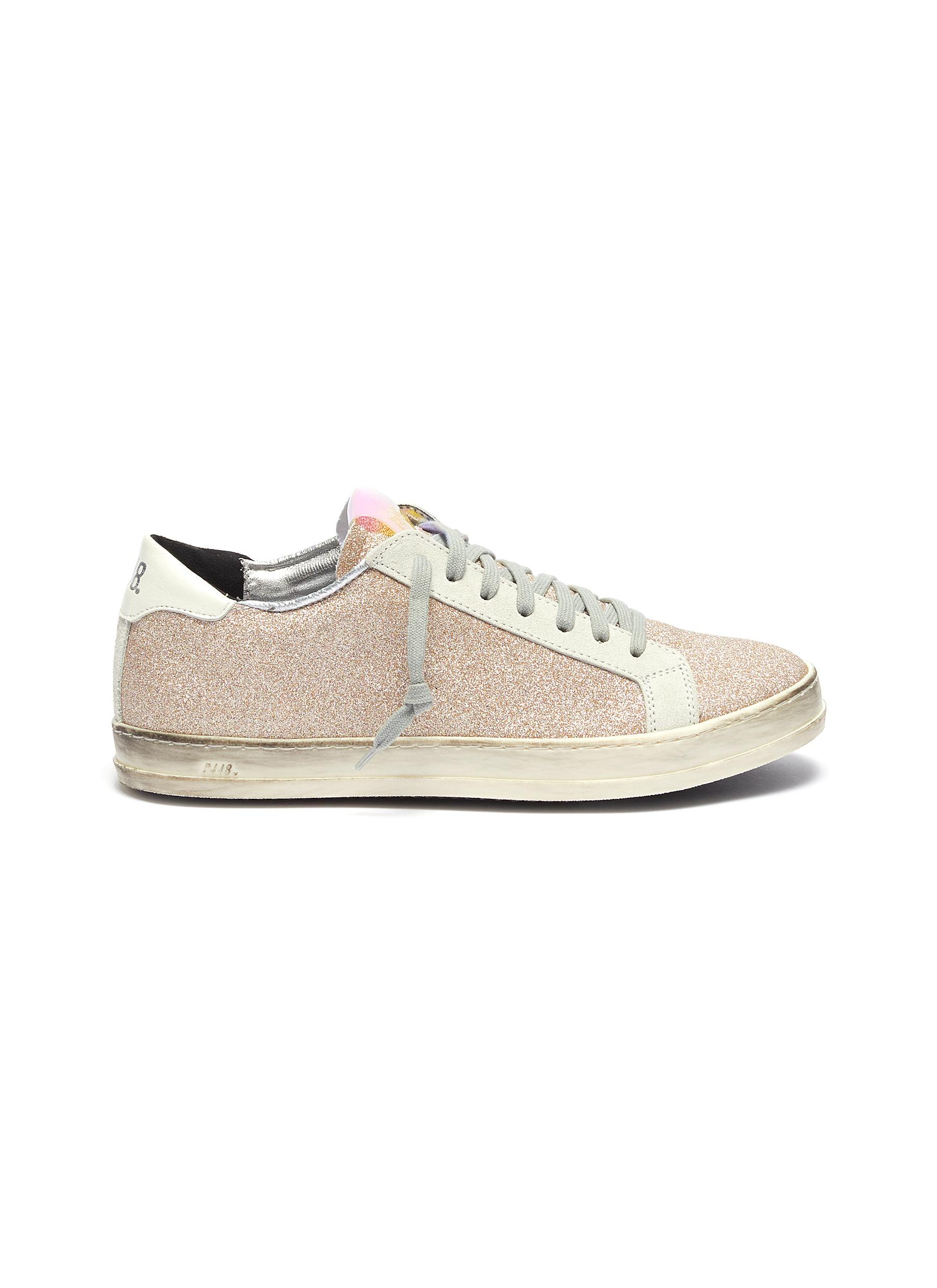 John distressed glitter sneakers by P448