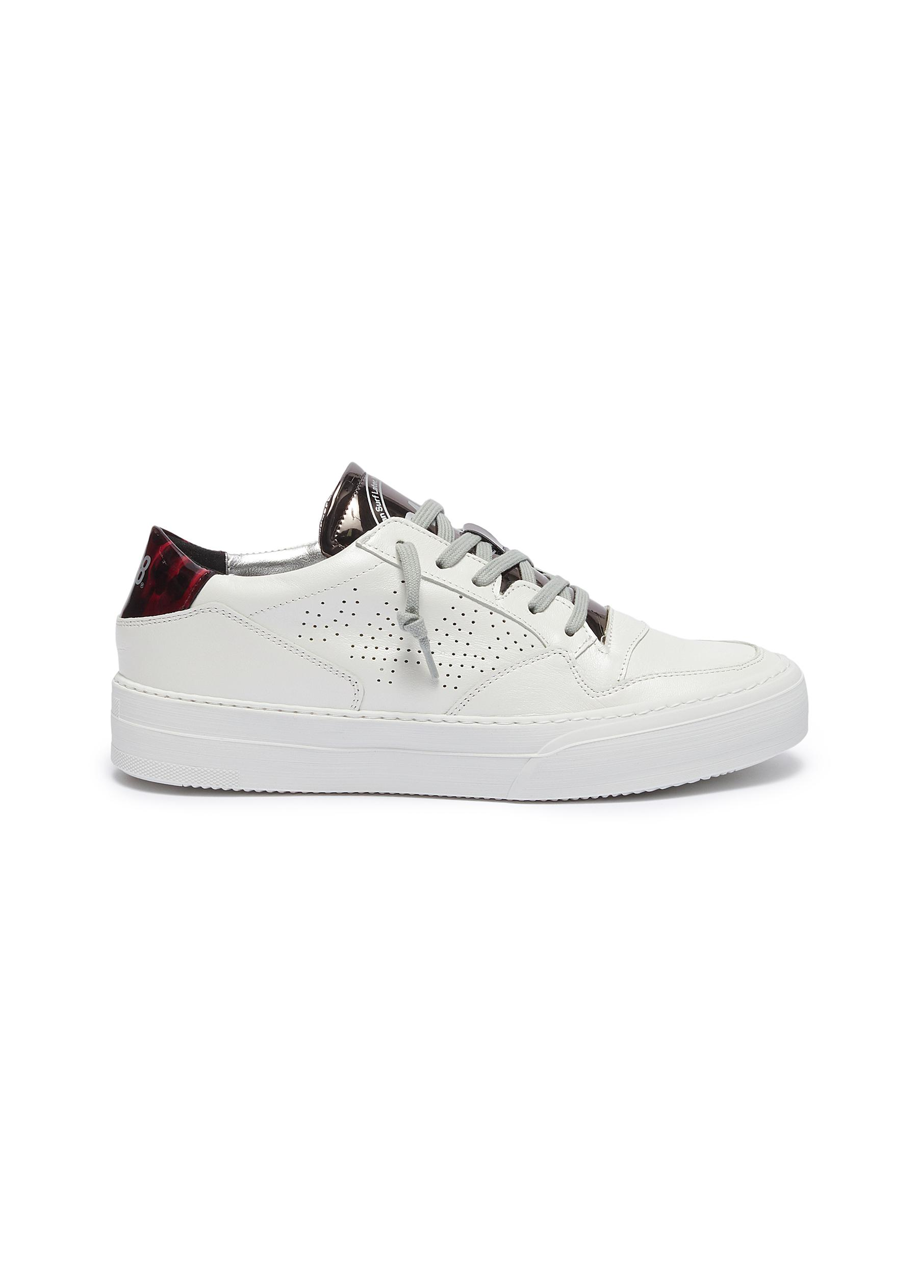Space paneled leather sneakers by P448