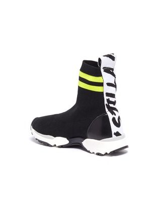 Detail View - Click To Enlarge - STELLA MCCARTNEY KIDS - Stripe cuff sock knit high top kids sneakers