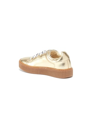 Detail View - Click To Enlarge - STELLA MCCARTNEY KIDS - Logo lace faux leather platform kids sneakers