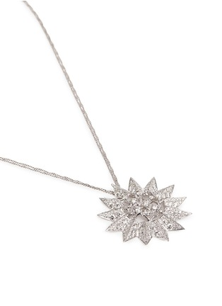 Figure View - Click To Enlarge - Melville Fine Jewellery - 'Aurora' diamond 18k white gold sun pendant necklace