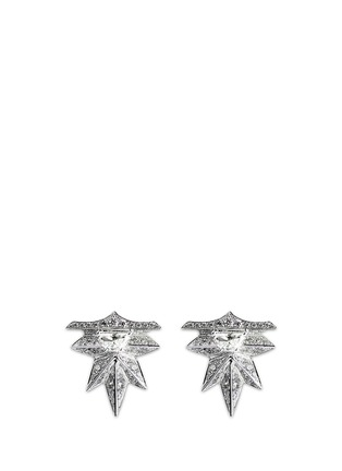Main View - Click To Enlarge - MELVILLE FINE JEWELLERY - 'Eastern Light' diamond 18k white gold spike earrings