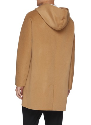 Back View - Click To Enlarge - EQUIL - Hooded zip up cashmere coat