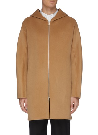 Main View - Click To Enlarge - EQUIL - Hooded zip up cashmere coat