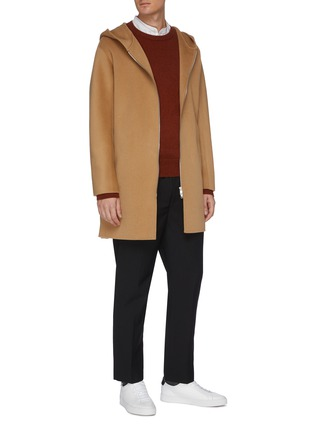 Figure View - Click To Enlarge - EQUIL - Hooded zip up cashmere coat