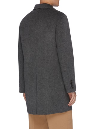 Back View - Click To Enlarge - EQUIL - Cashmere lapel coat