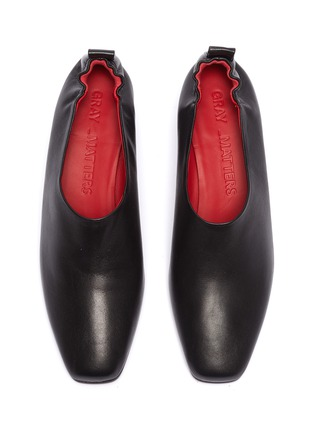 Detail View - Click To Enlarge - GRAY MATTERS - 'Micol Junior' choked-up leather pumps