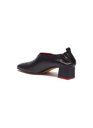 - GRAY MATTERS - 'Micol Junior' choked-up leather pumps