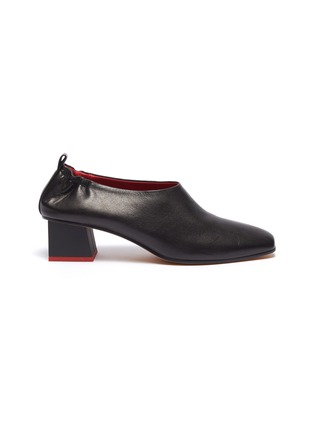 Main View - Click To Enlarge - GRAY MATTERS - 'Micol Junior' choked-up leather pumps