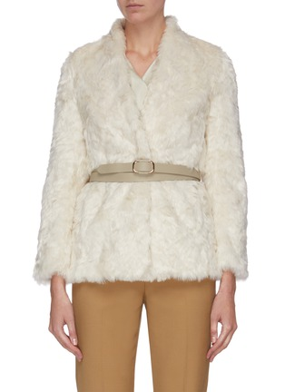 Main View - Click To Enlarge - EQUIL - Belted fur jacket