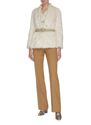 Figure View - Click To Enlarge - EQUIL - Belted fur jacket