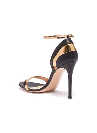 - GIANVITO ROSSI - Mirror metallic trim ankle strap leather sandals