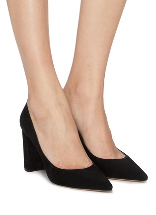 Figure View - Click To Enlarge - GIANVITO ROSSI - 'Piper' suede pumps