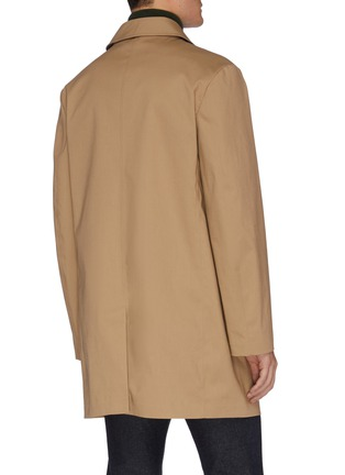 Back View - Click To Enlarge - EQUIL - Mid length shirt collar raincoat
