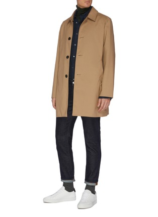 Figure View - Click To Enlarge - EQUIL - Mid length shirt collar raincoat