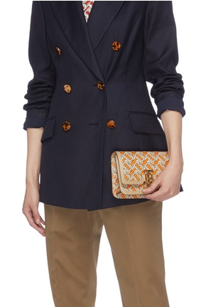 Front View - Click To Enlarge - BURBERRY - 'TB' monogram print leather bum bag