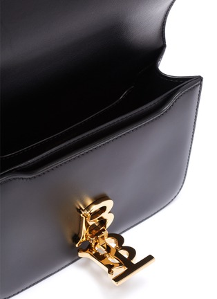Detail View - Click To Enlarge - BURBERRY - 'TB' monogram clasp leather belt bag