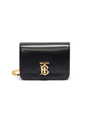 Main View - Click To Enlarge - BURBERRY - 'TB' monogram clasp leather belt bag