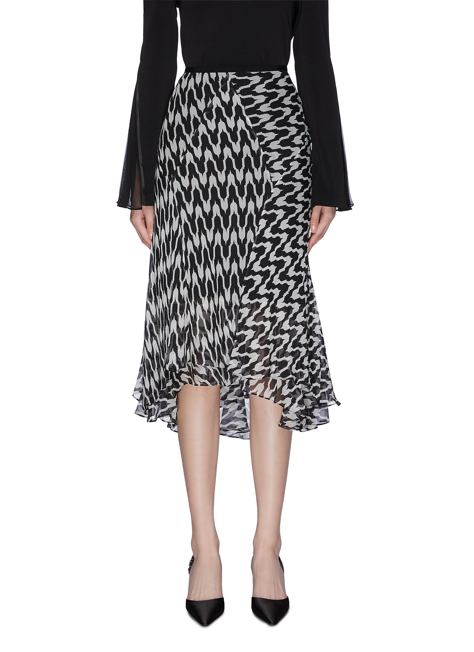 Abstract pattern print skirt by Diane Von Furstenberg