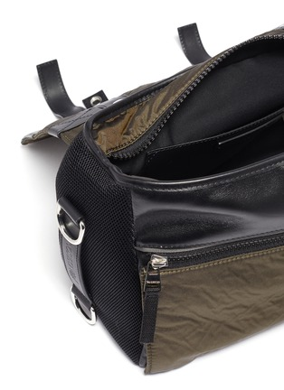 Detail View - Click To Enlarge - JW ANDERSON - Barbell nylon satchel