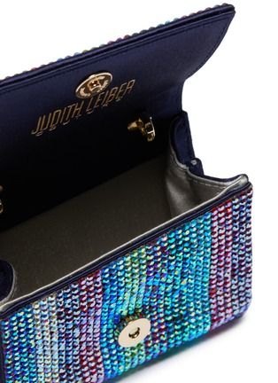 Detail View - Click To Enlarge - JUDITH LEIBER - 'Micro Fizzy' crystal pavé clutch