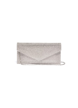 Main View - Click To Enlarge - JUDITH LEIBER - Crystal pavé envelope clutch