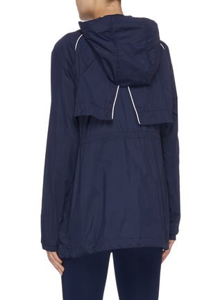 Back View - Click To Enlarge - THE UPSIDE - 'Ella' drawcord contrast piping water-resistant parka