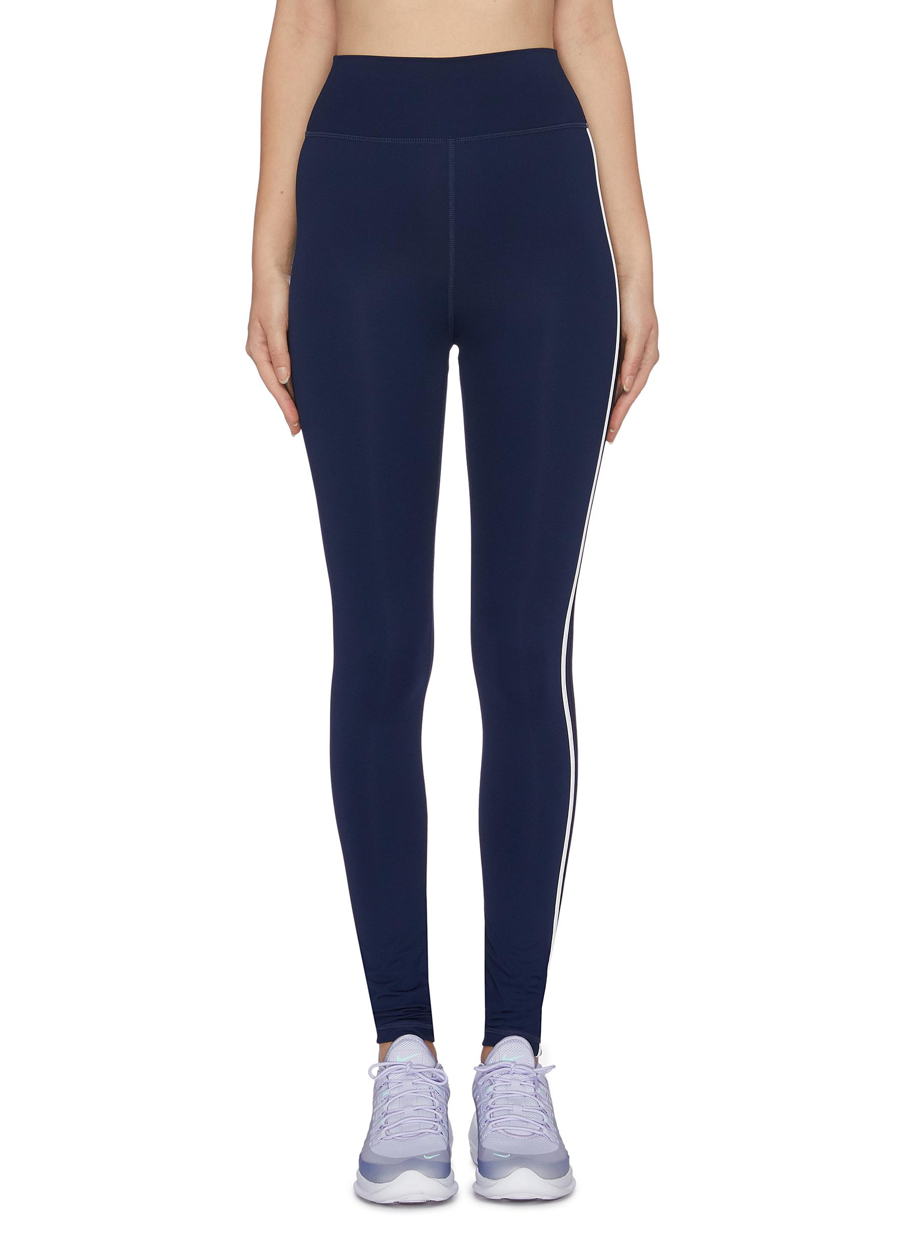 Dance stripe outseam leggings by The Upside
