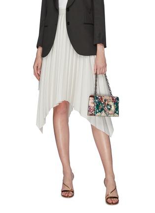 Front View - Click To Enlarge - OSCAR DE LA RENTA - Floral print shoulder bag