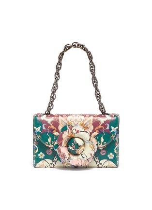 Main View - Click To Enlarge - OSCAR DE LA RENTA - Floral print shoulder bag