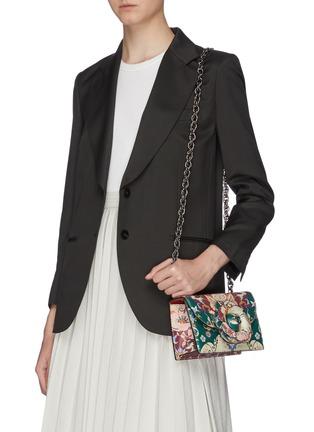 Figure View - Click To Enlarge - OSCAR DE LA RENTA - Floral print shoulder bag