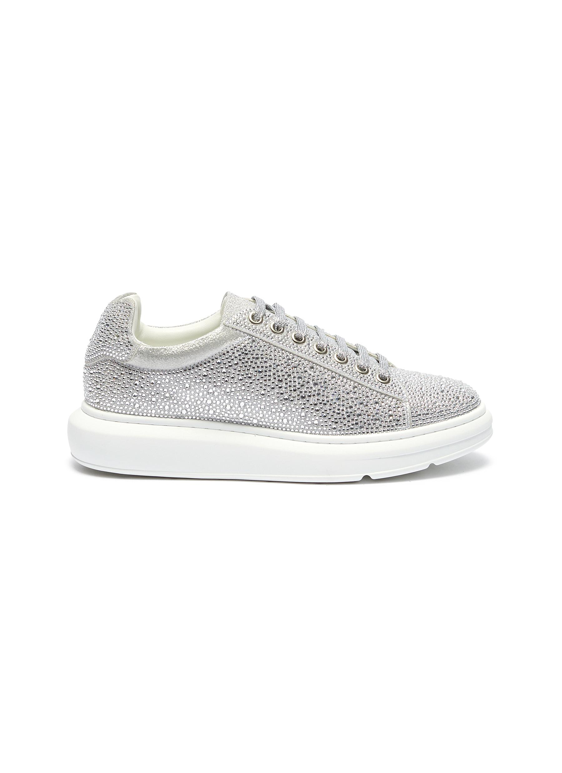 Laver chunky outsole strass sneakers by Pedder Red